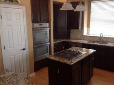 beautiful dark cabinets refinished in denver courtesy of nhance of arvada