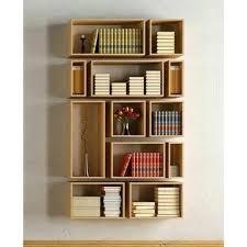 brown wood en wall bookshelf rs 20000