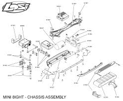 Exploded view losi mini 8ight 1 14 chassis astra