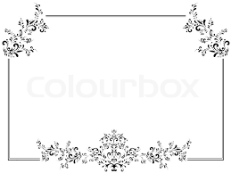 vintage black frame. Illustration Of Vintage Floral Frame In Black And White With Copyspace |  Stock Photo Colourbox R