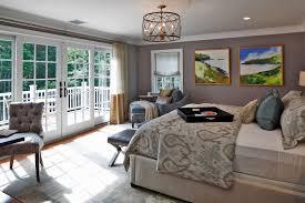 flush mount chandelier bedroom contemporary with area rug artwork balcony