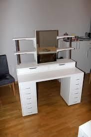 desk vanity mirror with lights. makeup vanity with side shelving, plenty of storage and lights desk mirror l