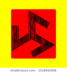 triskelion symbol ancient vector black scribble icon in red container with rounded corners