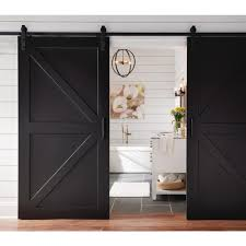 image of sliding barn door home depot