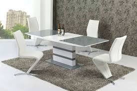 small glass dining tables small extending 4 gloss grey glass dining table chairs set small round