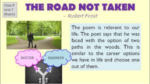 the road not taken explanation cbse class english lesson   the road not taken explanation cbse class 9 english lesson question answers summary