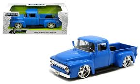 1956 Ford F-100 Pickup Truck Blue 1/24 Scale Diecast Model By Jada ...