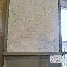 faux brick fireplace with drywall mud plumdoodles com