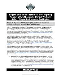Eugene Scalia Has Spent His Career Fighting Against DOL's Mission To  Protect Workers' Safety, Wages, Retirements, And Rights