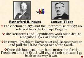 「1876 presidential election between Hayes and Democrat Samuel J. Tilden,」の画像検索結果
