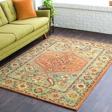 orange and green rug southwestern orange amp green area rug burnt orange and green area rugs orange and green rug