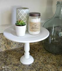easy diy cake stand made from dollar craft items and eco friendly white clay