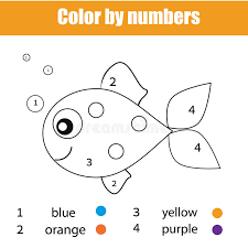 Fifteen free printable fish outline pages to use for fish crafts and activities. Fish Color Numbers Kids Stock Illustrations 79 Fish Color Numbers Kids Stock Illustrations Vectors Clipart Dreamstime