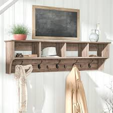 Hanging Coat Rack With Storage Custom Wall Coat Rack With Shelves Laurel Foundry Modern Farmhouse Drifted