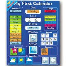 Magnetic My First Calendar Chart Reviews Child Development