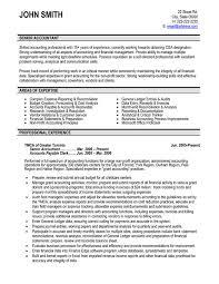 Senior Accountant Resume Jmckell Com