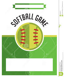 softball game flyer illustration stock vector image  softball game flyer illustration