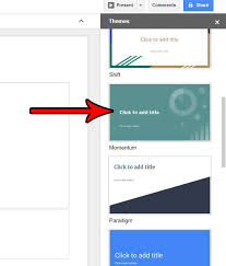 Presentation Themes Google How To Apply A Theme To A Presentation In Google Slides Solve Your