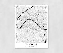 map of decor paris city map art print wall art wall decor bedroom map