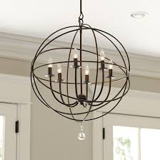 orb light fixture. Orb 6-Light Chandelier Ballard Designs Light Fixture L