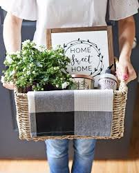 rustic cozy and practical housewarming gift basket idea easy tips for creating gift baskets for details