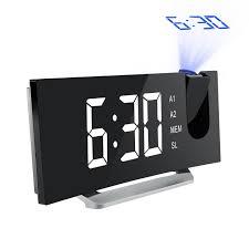 digital mpow 5 projection alarm clock fm radio alarm clock with dual alarm