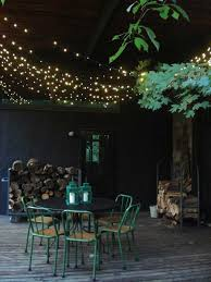yard and patio string light ideas