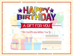 Microsoft Word Gift Certificate Template Free Birthday Gift Certificate Template Word Microsoft Word