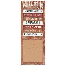 kitchen rules corkboard wall plaque