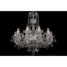 bohemian bcc10sps neutral crystal chandelier with swarovski ts 10 light