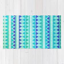 winter aztec pattern rug