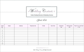 Related For Wedding Guest List Template Excel Mac Invite