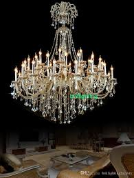 extra large crystal chandelier lighting entryway high ceiling