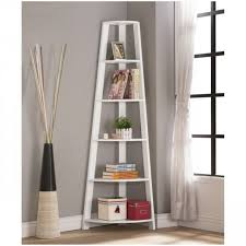 rounded corner shelf bookshelf tall unit for kids solid wood white modern home