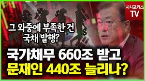 文정부 임기 중 국가채무 1000조 원 임박…GDP대비 40% 돌파 - YouTube