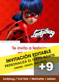 Aplicaciones Para Hacer Invitaciones Gratis 9 Tarjetas De Cumpleaños De Miraculous Ladybug Para