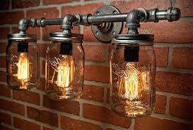 mason jar bathroom light diy lights fixture