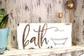 bath sign bathroom sign bath signs wood bath sign farmhouse bath sign