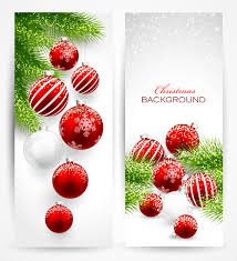 christmas ornament banner. Modren Christmas Red With White Christmas Decorations Banner In Christmas Ornament Banner
