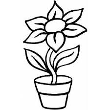 Small Picture Flower In Pot Coloring Page