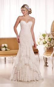 vintage fit and flare wedding dresses 3425