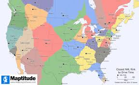 Time Map Maptitude Map Nhl Rinks