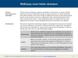 McKinsey Cover Letter Sample Gorgeous Management Consulting Cover Letter