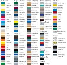 16 Color Chart Pinstripe Color Charts