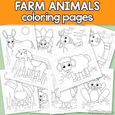 Animal coloring pages are pages in which pictures are drawn in black and white format. Farm Animals Coloring Pages For Kids Itsybitsyfun Com
