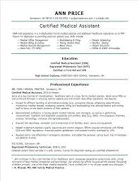 Example Medical Assistant Resume Amazing Sample Medical Assistant Resume Monster Com Template For Office