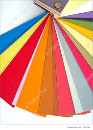 Abstract Patterns Paper Color Chart Background Different Weights And Colors Of Printing Paper