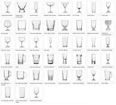 bar glassware bar glassware prop agenda bar glassware chart