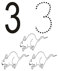 Small Picture Number 3 coloring page