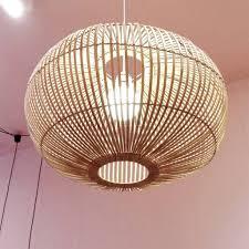Extra Groot Model Hanglamp Van Bamboe Hout Scandinavisch Design
